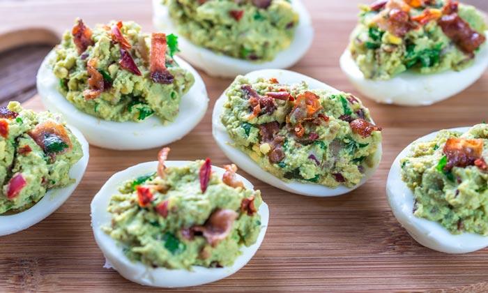 Huevos Duros Con Guacamole Receta Fácil