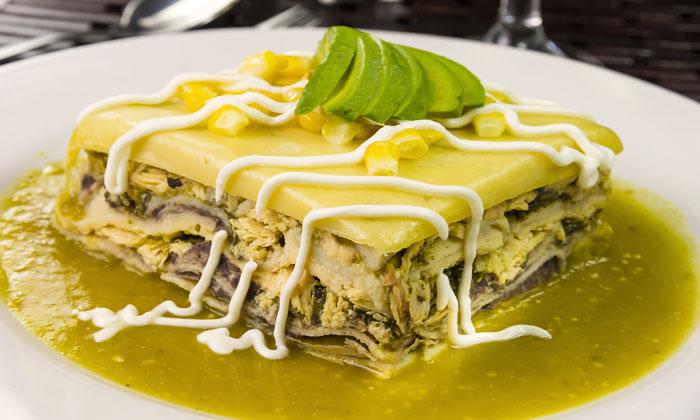 Pastel Azteca Receta De Comida Mexicana