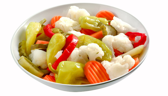 Chiles y verduras en escabeche  Receta fácil