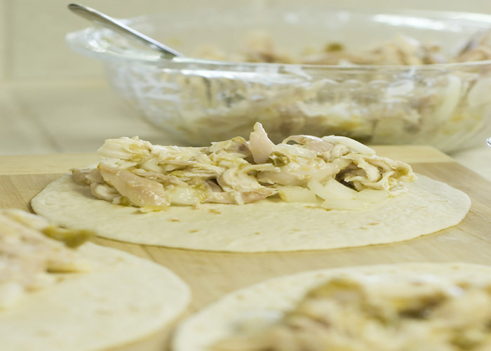 rellenar tortillas de pollo