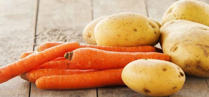 zanahorias y papas