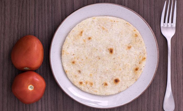 tortilla en plato