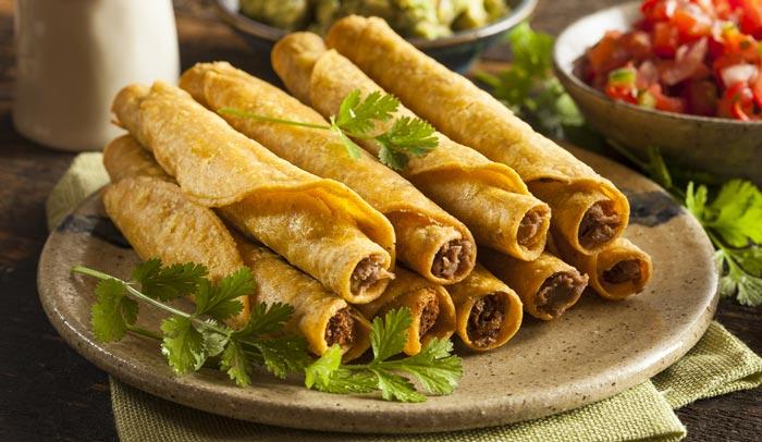 Tacos dorados de picadillo. Receta sencilla