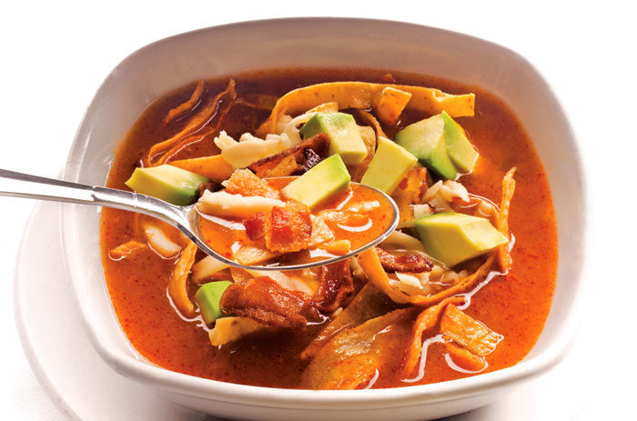 Sopa De Tortilla Con Pollo Receta Fácil