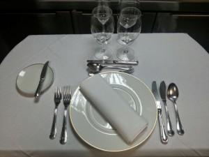 Colocación de los cubiertos en la mesa