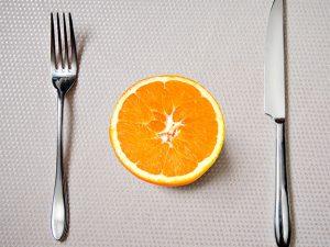 tenedor para fruta