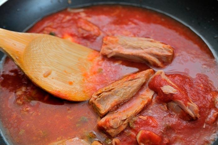 Bonito o Atún con Tomate natural