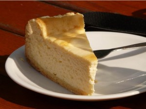 Tarta de queso sencilla. Receta casera
