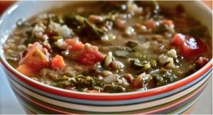 Lentejas con chorizo, verdura y carne