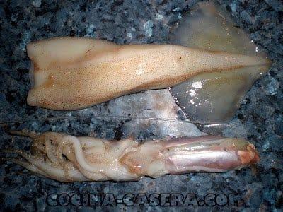Cómo limpiar un Calamar o Volador