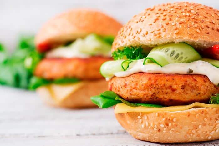Hamburguesa pollo baja calorias receta cocina