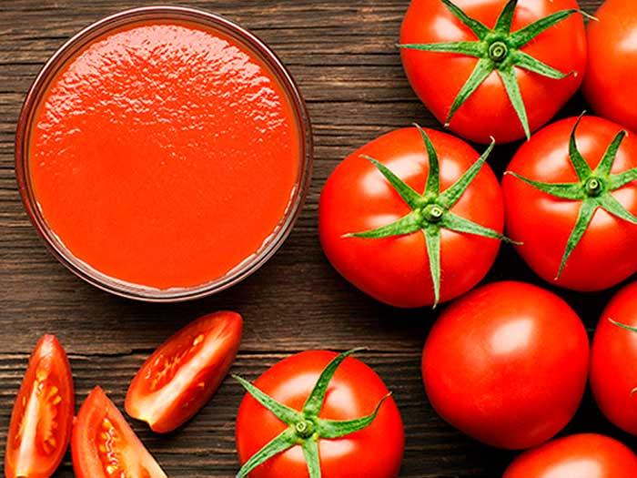tomate -Puré de tomate