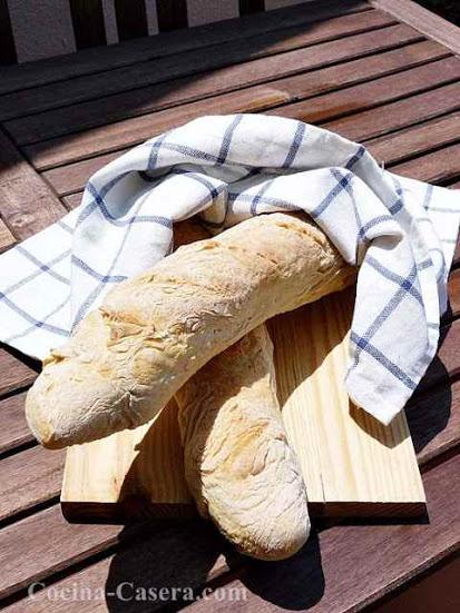 Cómo hacer Baguette de Pan casera. Receta fácil