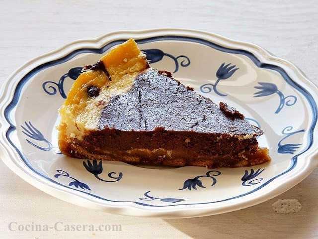 Tarta de Queso y Chocolate. Postre fácil