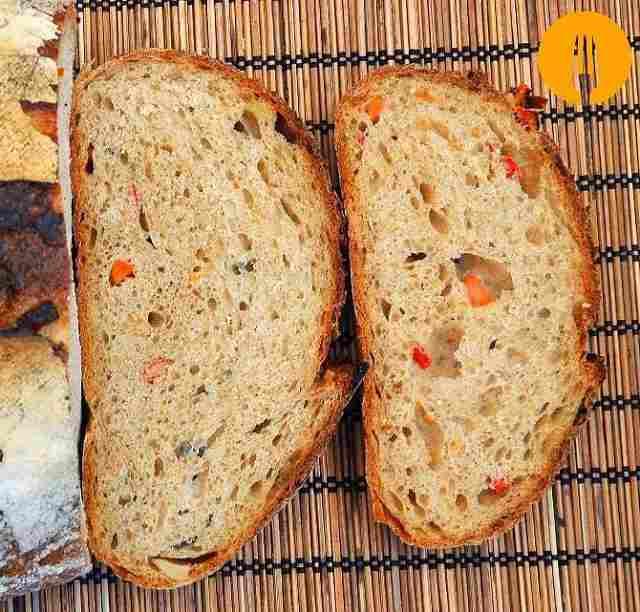 Pan de verduras con masa madre
