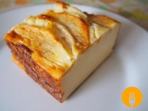 Tarta de Queso con Manzana. Receta fácil