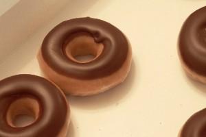 Berlinas cubiertos de chocolate
