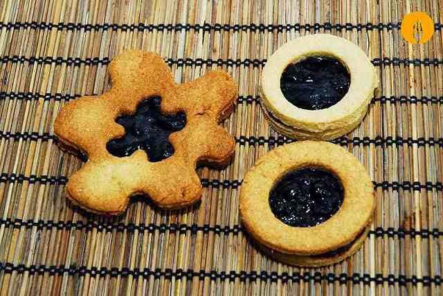 Galletas con mermelada de arándanos - Recetas de galletas