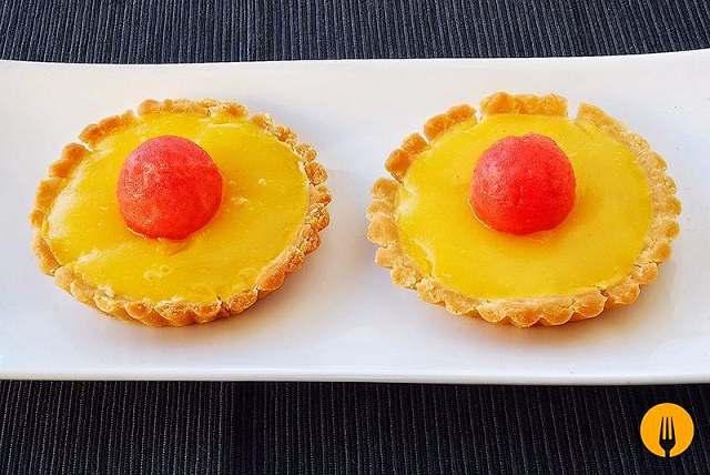 Tartaletas de mango y limón