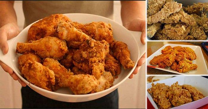 Alitas de pollo estilo KFC o Kentucky. Receta fácil
