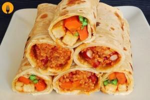 Burritos de cerdo y pollo
