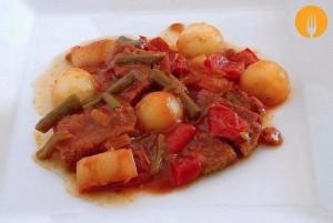 Ternera en salsa con melón