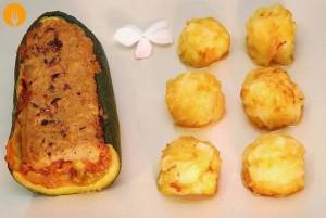 Calabacines rellenos de carne y verduras
