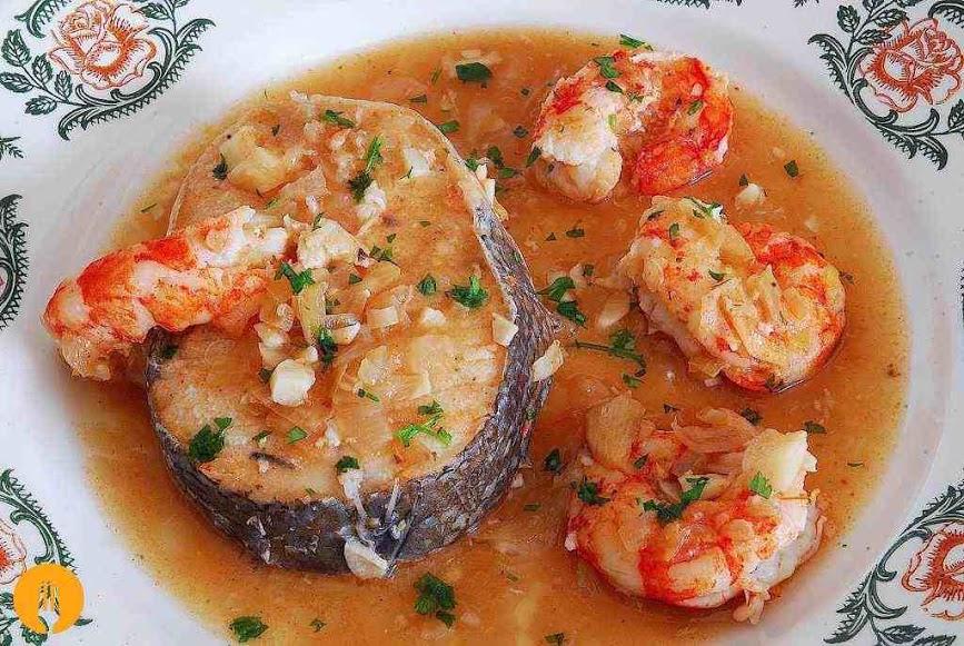 merluza salsa gambas receta