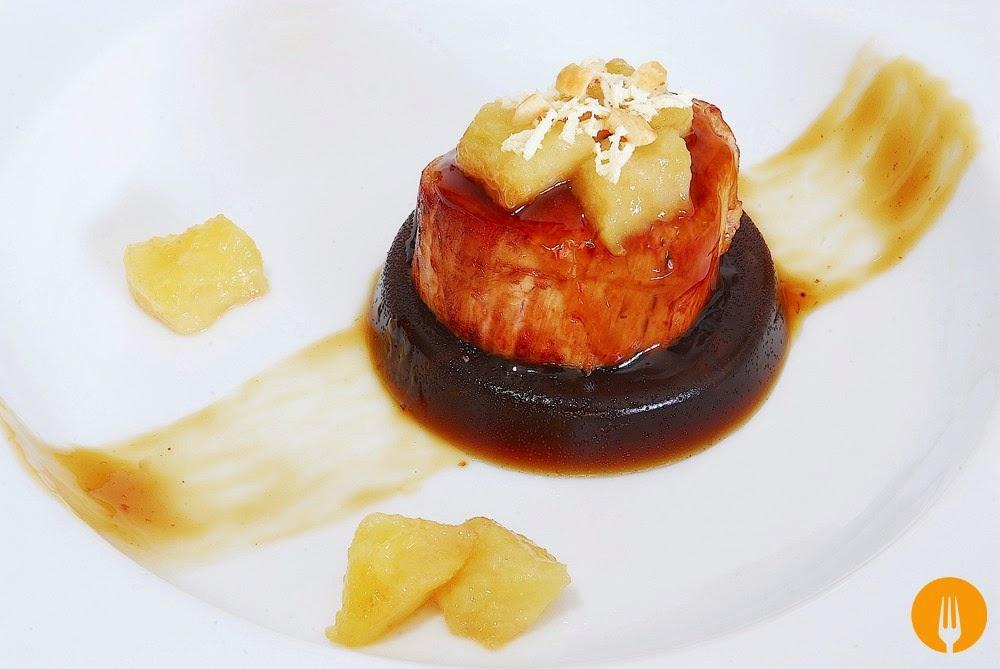 Solomillo de cerdo sobre gelatina de salsa Pedro Ximénez