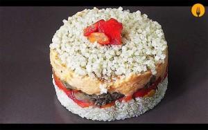 Timbal de quinoa con verduras