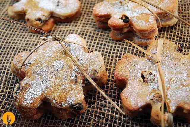 Galletas de fruta confitada y pasas - Recetas de galletas
