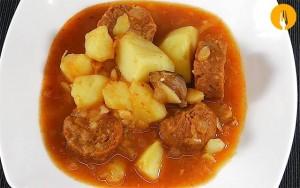 Patatas a la Riojana. Receta fácil y Vídeo