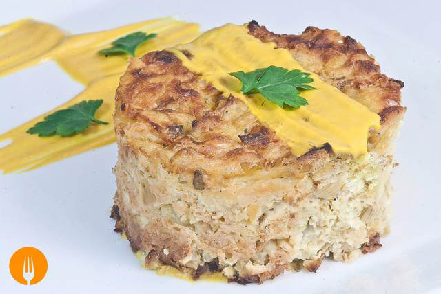 Pastelillos de patata y puerro