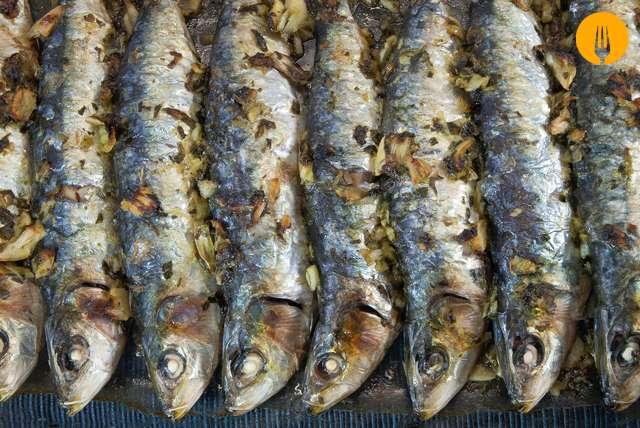 Sardinas al horno --Pescado al horno