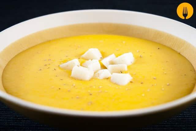 Crema de zanahoria y queso con KCook de Kenwood
