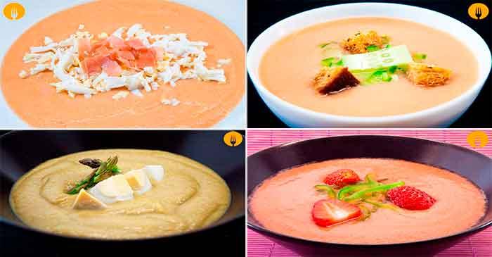Diferencia entre gazpacho y salmorejo y recetas