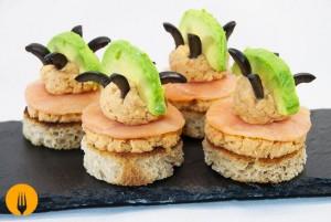 Canapés de salmón