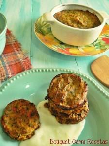 Bocadillos Horneados de Calabaza y Brócoli con salsa de queso