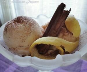Helado de Leche Merengada con heladera
