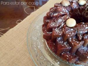 Bundt Cake de Chocolate, Dulce de leche y Mentos choco