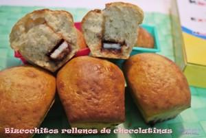 Bizcochos rellenos de chocolatinas