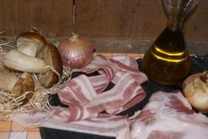 Secreto al Horno con Boletus y Bacon