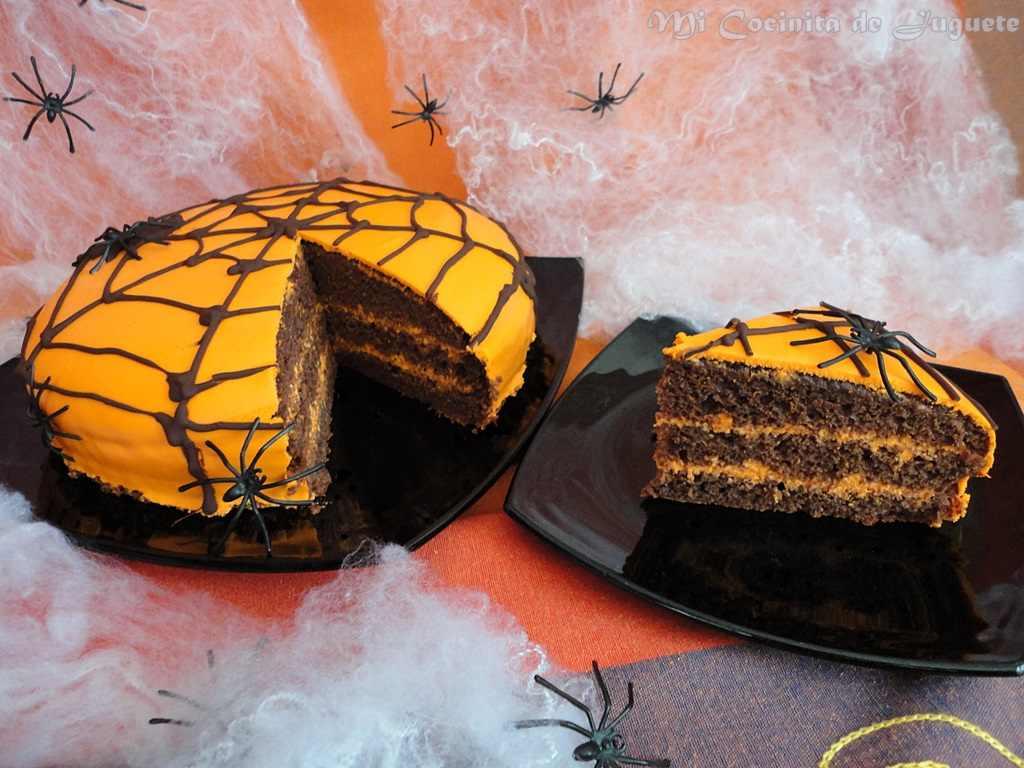 Tarta de Chocolate. Recetas para Halloween