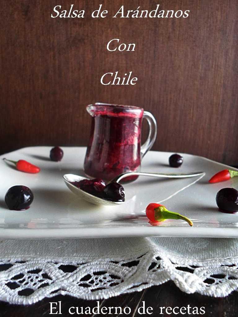 Salsa de Arándanos con Chile