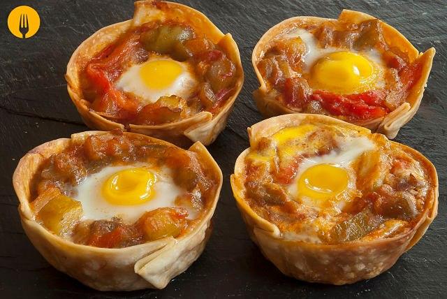 Cestas de Pisto y Huevos de Codorniz