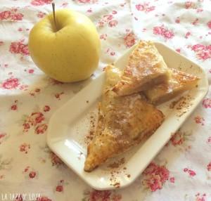 Hojaldre relleno de Manzana con frutos secos y pasas