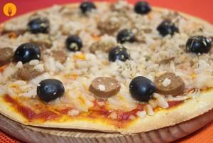 Masa de Pizza Sin Levadura