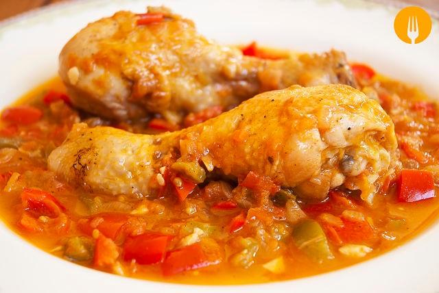 Pollo al Chilindrón casero