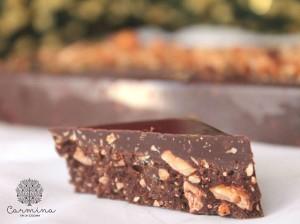 Turrón casero de chocolate y praliné de avellanas