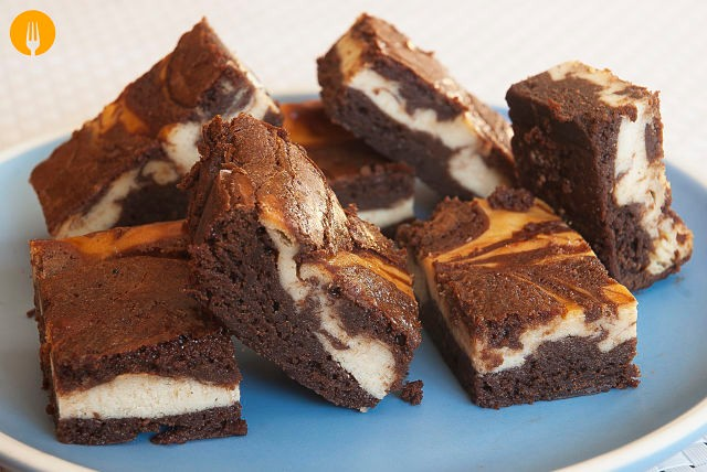 Brownies de Chocolate y Queso